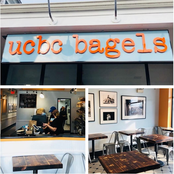 Coffee, Colored bagels, Stamford CT, New Canaan CT, chopped salad, specialty sandwiches, local artist showcase